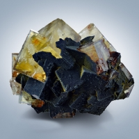 Fluorite With Goethite