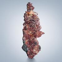Cuprite Var Chalcotrichite On Native Copper