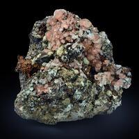 Native Copper With Calcite & Prehnite