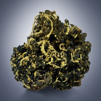 Native Gold On Limonite With Cacoxenite