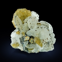 Siderite With Calcite & Pyrrhotite