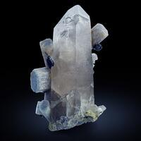 Beryl & Schorl On Rock Crystal