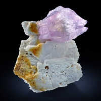 Rose Quartz On Microcline
