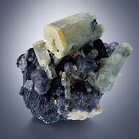 Beryl On Fluorite