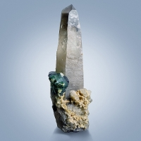 Herderite Fluorite & Beryl On Smoky Quartz