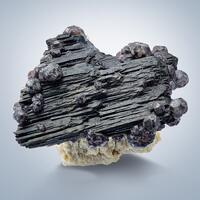 Fluorite On Schorl With Beryl