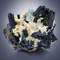 Schorl With Aquamarine