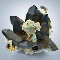 Smoky Quartz With Fluorite & Hyalite