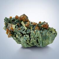 Andradite & Quartz On Hedenbergite