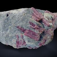 Tourmaline Var Rubellite In Lepidolite