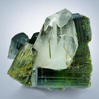 Tourmaline Var Verdelite & Rock Crystal