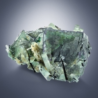 Aquamarine On Fluorite