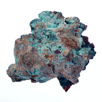 Native Copper With Malachite