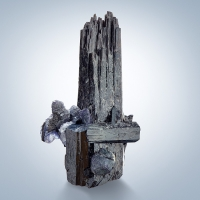 Fluorite On Tourmaline Var Schorl