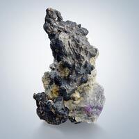 Native Silver Var Kongsbergite & Fluorite
