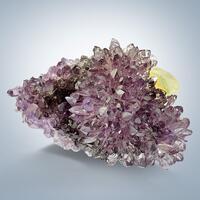 Quartz Var Amethyst With Calcite