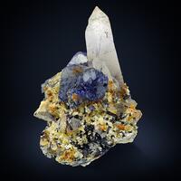 Fluorite & Quartz With Schorl & Muscovite
