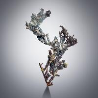 Native Silver With Annabergite