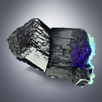 Schorl With Opal Var Hyalite