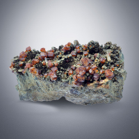 Andradite & Quartz On Hedenbergite