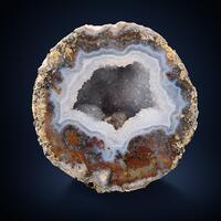 Calcite Amethyst & Chalcedony Geode