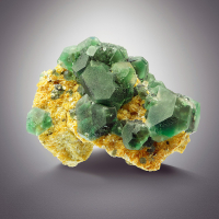 Fluorite & Beryl On Muscovite Psm Microcline