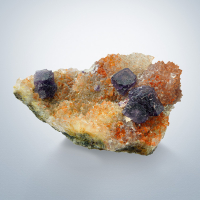 Fluorite On Quartz Var Eisenkiesel