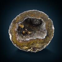 Calcite In Quartz Geode