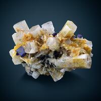 Beryl Var Goshenite & Fluorite