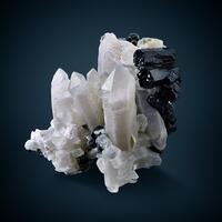 Quartz Schorl & Fluorite Psm Muscovite