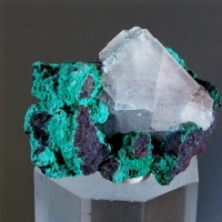 Baryte With Malachite