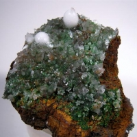 Calcite With Aragonite & Adamite
