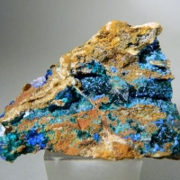 Cyanotrichite Brochantite Azurite & Gypsum