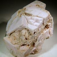 Rhodochrosite With Gypsum & Pyrite