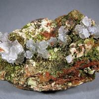Chenevixite & Scorodite With Calcite