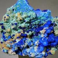 Azurite Conichalcite Olivenite & Calcite