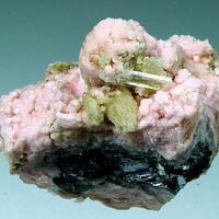 Rhodochrosite Gypsum Calcite Quartz & Galena