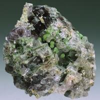 Adamite & Fluorite