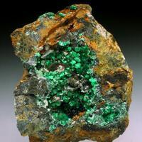 Annabergite Cabrerite Calcite Ankerite & Psilomelane