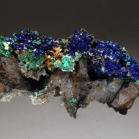 Azurite Malachite Calcite & Limonite