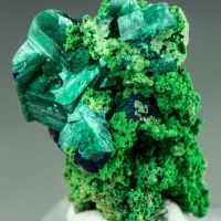Malachite Psm Azurite On Bayldonite