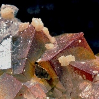 Wulfenite On Fluorite