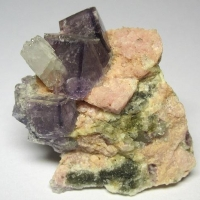 Fluorite & Rhodochrosite & Apophyllite