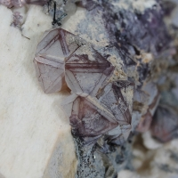Fluorite Epidote On Microcline