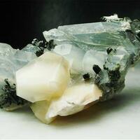 Quartz With Epidote & Chrysotile