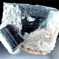 Indicolite With Stilbite