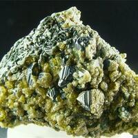Magnetite With Vesuvianite & Clinochlore