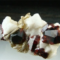 Spessartine With Mica & Feldspar