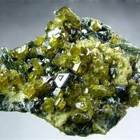 Vesuvianite With Magnetite & Diopside