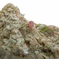 Elbaite With Lepidolite & Microcline